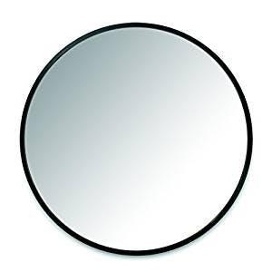 large round black mirror