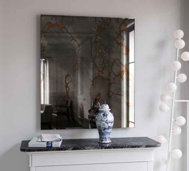 Gold Veined Wall Mirror