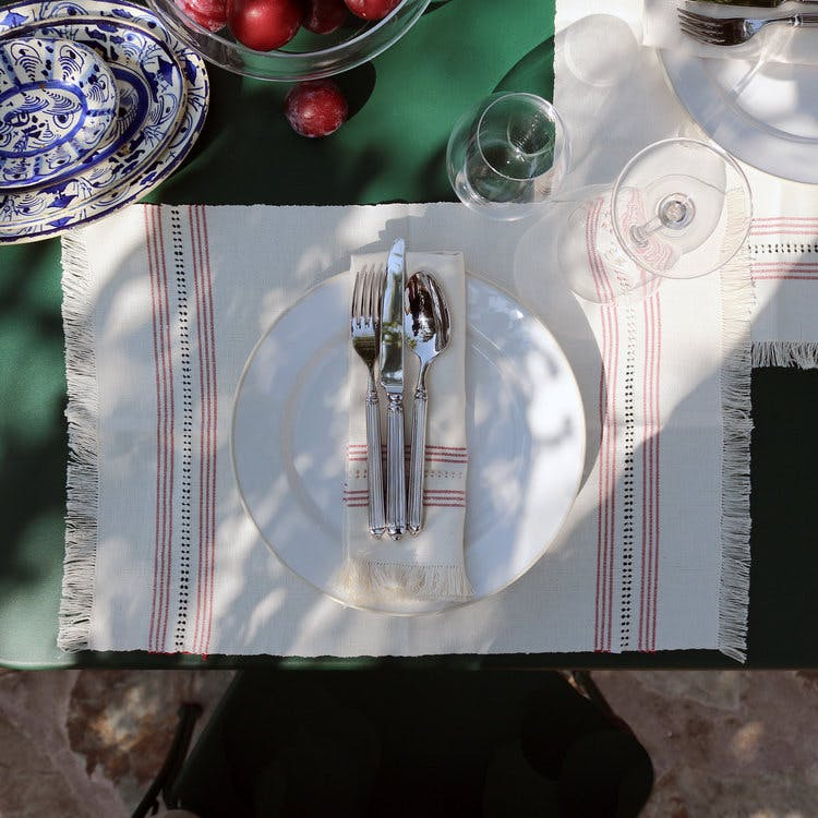 Our mission is to support these authentic crafts and we're thrilled to launch our collection of handwoven table linens.