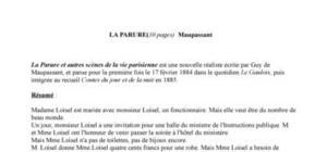 résumé guy de maupassant cours gratuit français