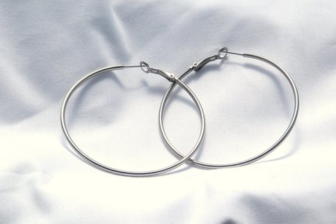 60 mm Stainless Steel Round Hoop Earrings Hypoallergenic