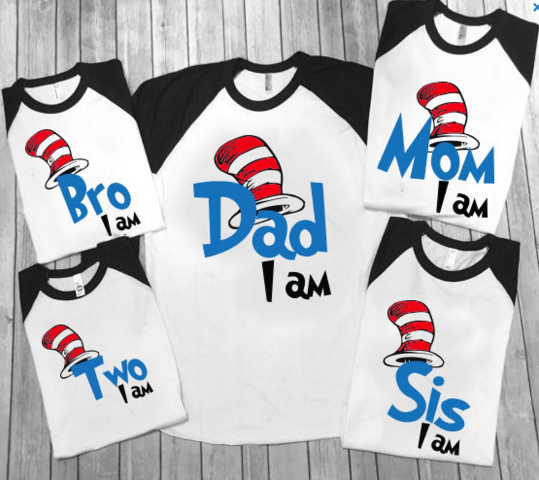 Dr Seuss Family Shirts