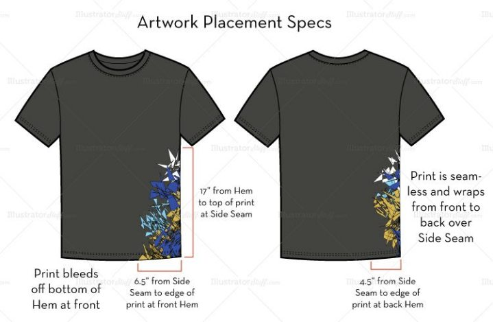 How to Prepare Artwork for T Shirt Screen Printing screen printing specs location