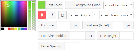 Color font - Content Views Pro for WordPress