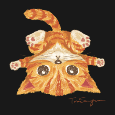Tabby cat upside-down Shirts