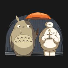 Totoro's New Neighbors Shirts  Design by AndrewKwan Totoro, Baymax, Baby Groot.