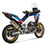 Honda Crf1100l Africa Twin Adventure Sports 2020 Racing Line Titanium For Adventure Sports Akrapovic Motorcycle Exhaust
