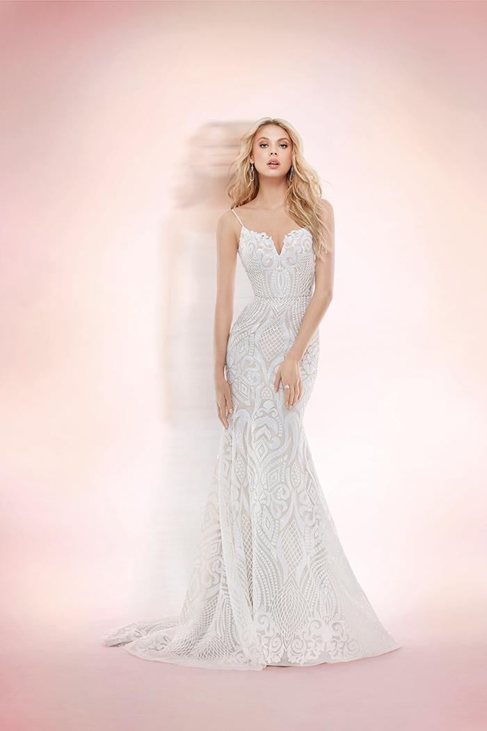 c6cc7160d1a These Sorella Vita gowns add plenty of subtle sparkle. This gorge Hayley  Paige ...