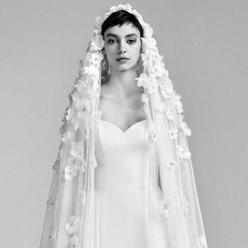 statement wedding veil