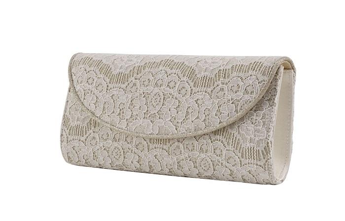 a171ef6d56fd Ivory shimmer lace  Laurel  clutch bag (£85) Rainbow Club