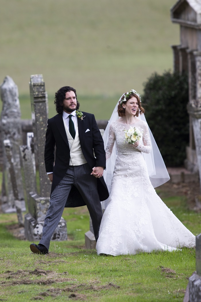 In Pictures Game Of Thrones Stars Rose Leslie Kit Harington S