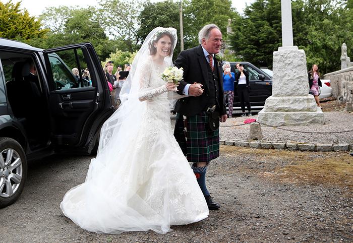Rose Leslie's wedding dress