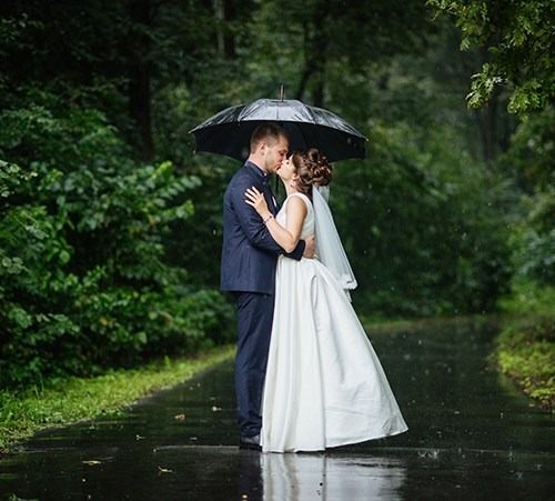 wedding day rain