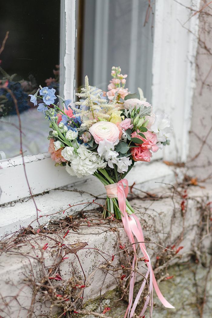 Dalduff Farm rustic barn wedding The Gibsons flowers