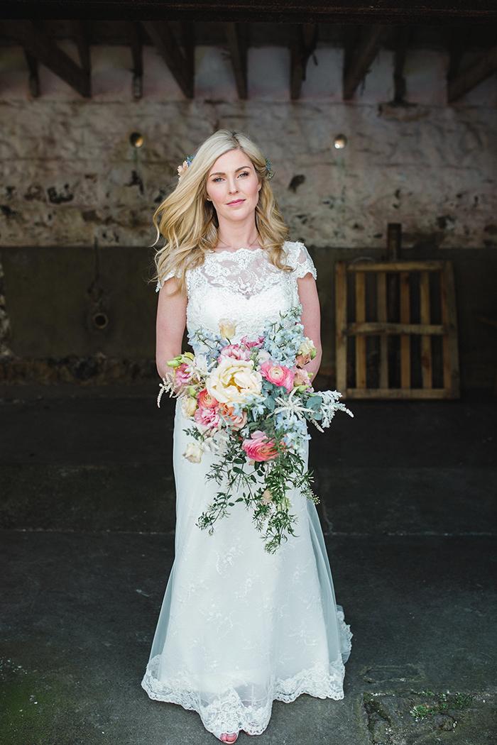 Dalduff Farm rustic barn wedding The Gibsons bride