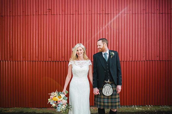 Dalduff Farm rustic barn wedding The Gibsons