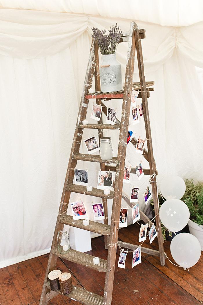 Dalduff Farm rustic barn wedding The Gibsons photo ladder