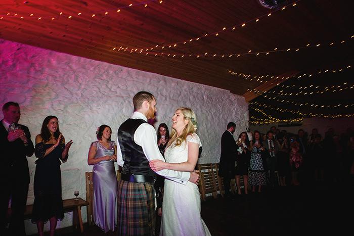 Dalduff Farm rustic barn wedding The Gibsons first dance
