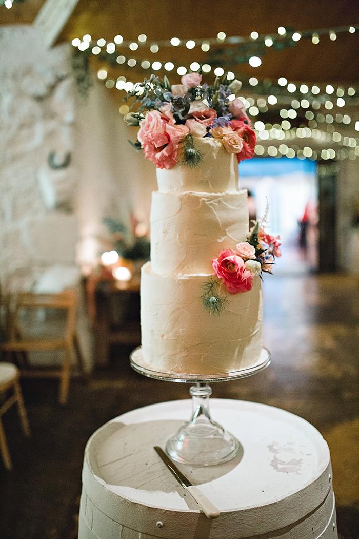 Dalduff Farm rustic barn wedding The Gibsons the cake buttercream