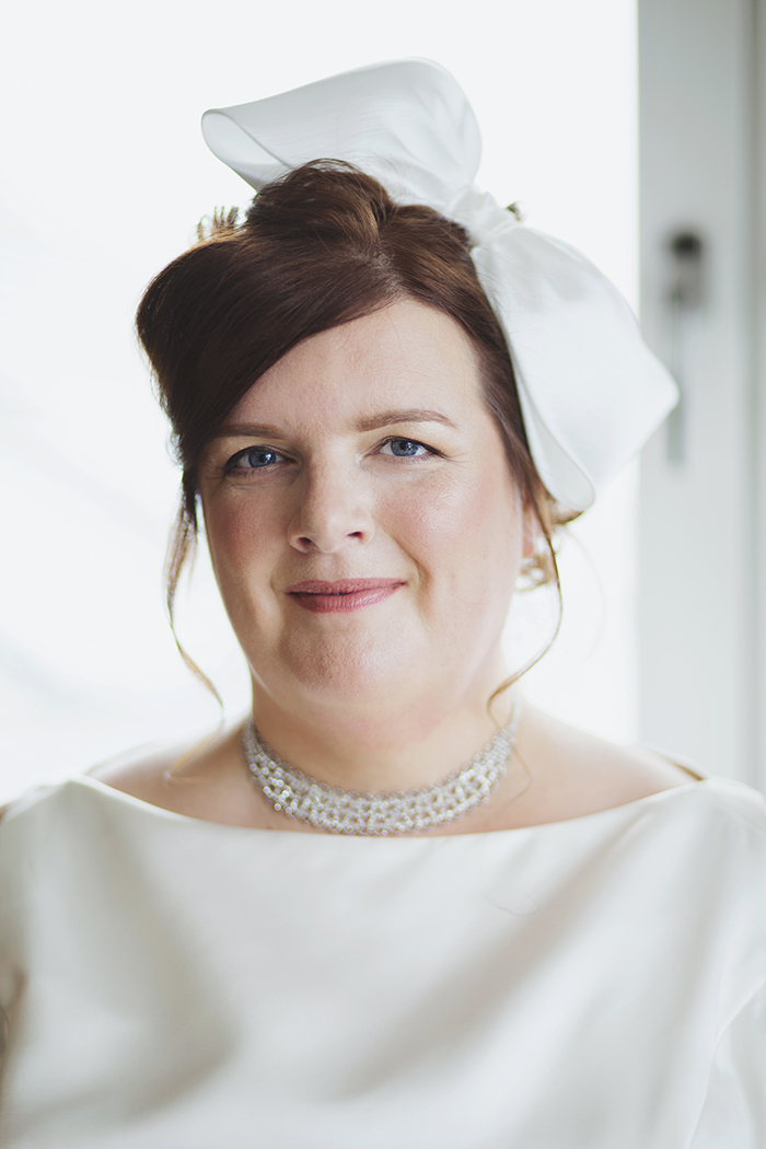 Real Wedding at The Waterside Hotel Ayrshire. Laura A Tiliman Photography. Bride close-up