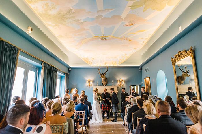 Photos by Zoe rustic PapaKåta tipi wedding - Ceremony room