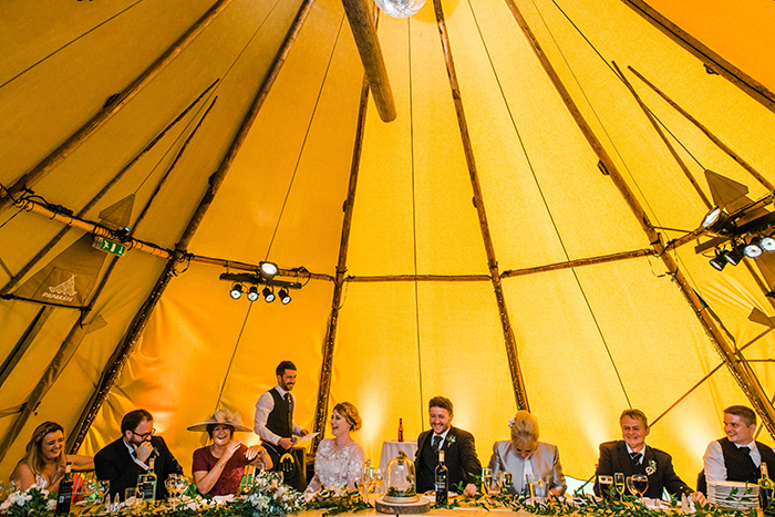 Photos by Zoe rustic PapaKåta tipi wedding - tipi