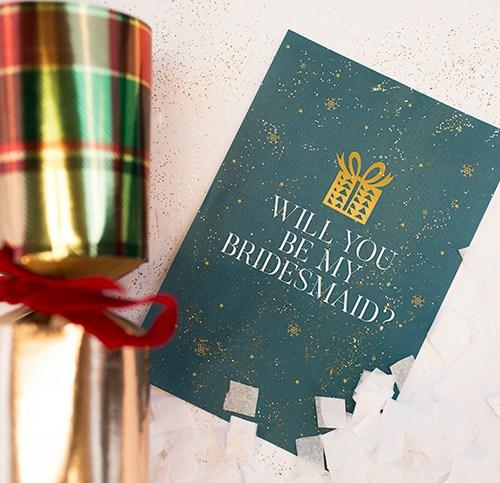 Christmas cracker bridesmaid proposal