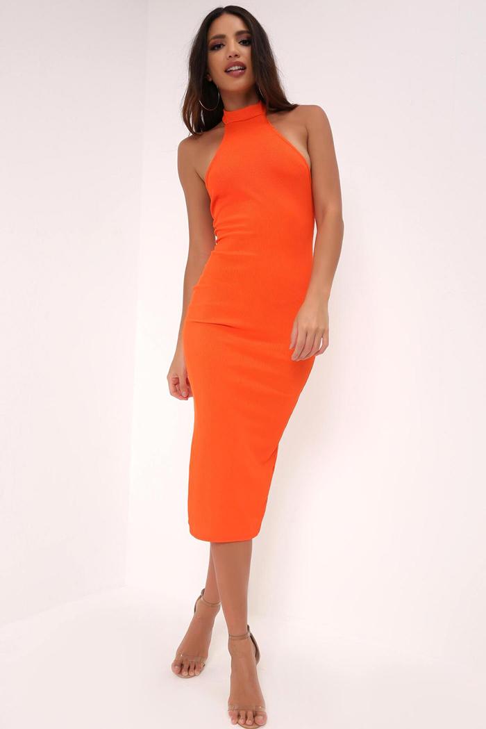 b018ad4009cbf BUY | Plus Libby Leopard Print Strappy Midi Dress (£19). BUY | Orange High  Neck Backless Midi Dress (£7.50)