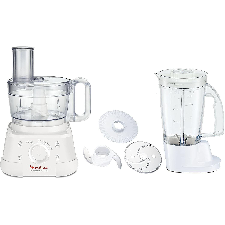 moulinex masterchef 5000 robot cuisine blender 1 5l inclus blanc