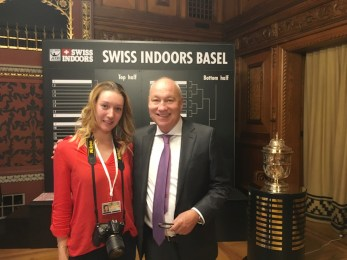 the Official Draw Ceremony, with the president of Swiss Indoors Basel, Roger Brennwald