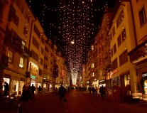 Christmas lights, Rennweg, Zurich