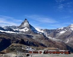 the Gornergrat train and Matterhorn