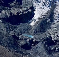 small emeralds lakes next to the Gorner Glacier