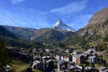 Zermatt, view from the Gornergrat train
