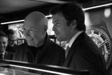 Jean-Claude Biver - CEO of TAG Heuer & President of the LVMH Watch Devision, and Guillaume Barazzone - the Mayor of Geneva, at the Grand Opening of Geneva Watch Fair 2017