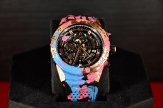 One of the TAG Heuer watches in collaboration with Alec Monopoly