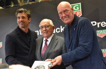 TAG Heuer Press Conference with Jean-Claude Biver, Jack Heuer and Patrick Dempsey