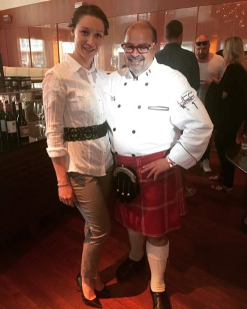 "With Alain Bossé ""The Kilted Chef"" from Nova Scotia"