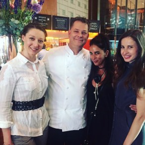 With the Executive Chef of Park Hyatt Zurich Frank Widmer and my fellow beautiful blogger friends Discover Out Loud and Swiss Glam