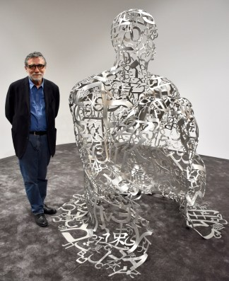 Jaume Plensa with its creation for the Ruinart VIP Lounge at Art Basel 2017