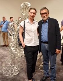 With Jaume Plensa at the Ruinart VIP Lounge at Art Basel 2017