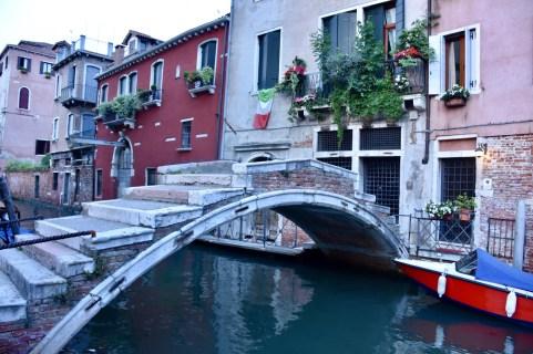 Venice, the bridge without parapets, Ponte de Chiodo in the Cannaregio district