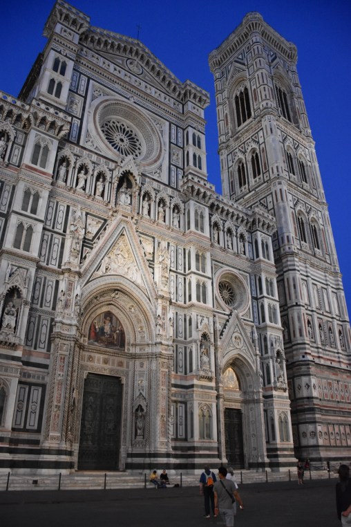 the Santa Maria del Fiore Cathedral and the Giotto's bell tower