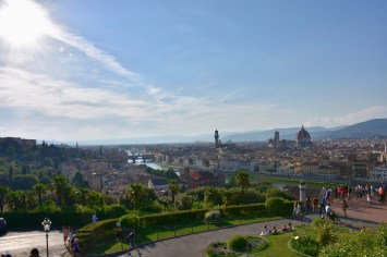 The stunning view over Florence from Piazzale Michelangelo