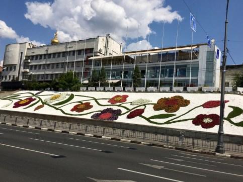 Flower instillation on the University Hill
