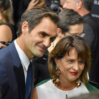Roger Federer and Doris Leuthard at the ZFF Opening Night, Green Carpet, Gala Premiere of BORG/McENROE