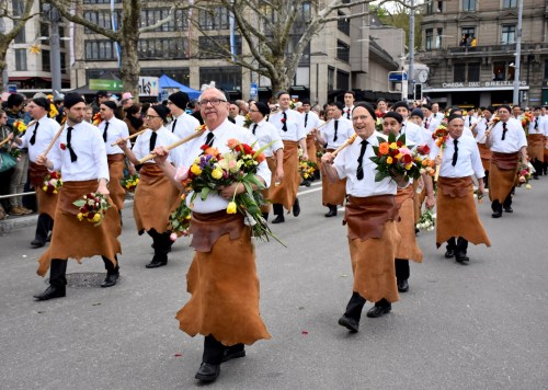 The guild's parade during Zurich Spring Festival