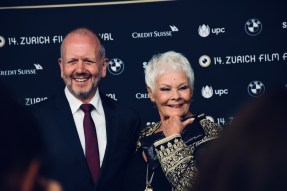 "Judi Dench on the Green Carpet of 14th Zurich Film Festival, before the premiere of RED JOAN and receiving the ""Golden Icon Award"""