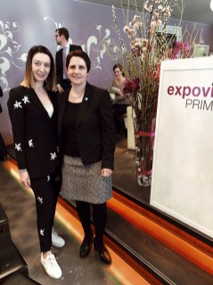 With Yvonne Burgin, the President of Canton of Zurich 2018/19, at the opening ceremony of ExpovinaPrimavera
