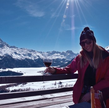 St. Moritz, the mountain club El Paradiso